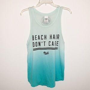 PINK Beach Hair Don't Care Ombré Tank